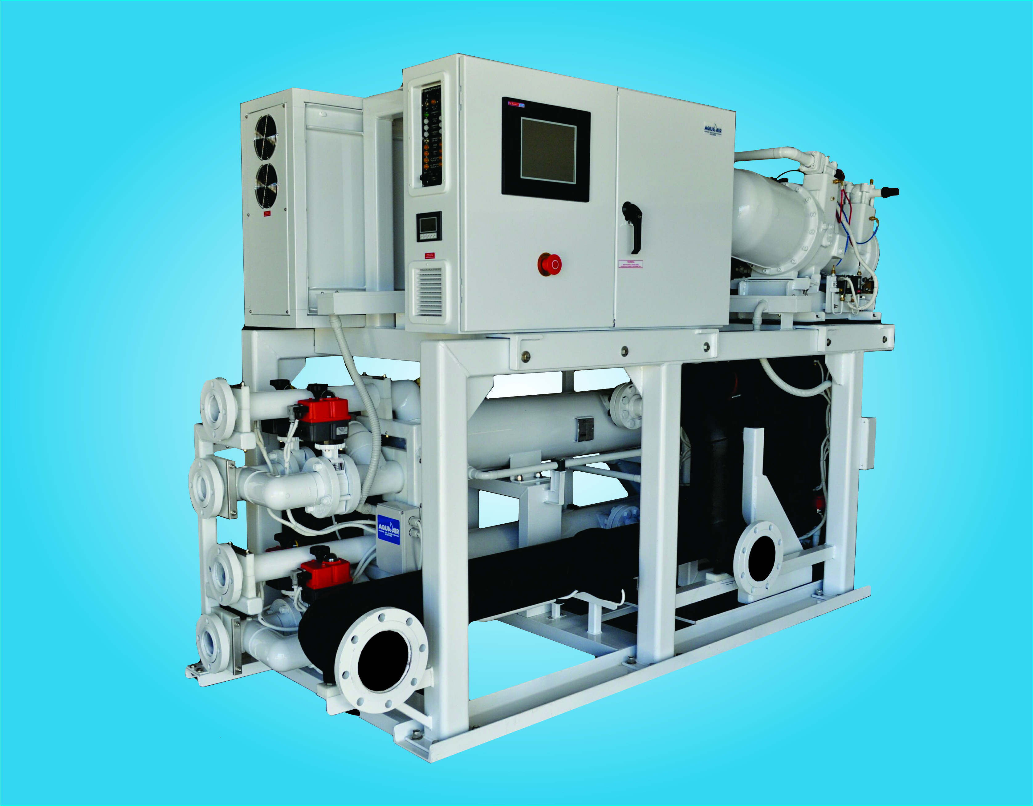 Aqua Air Marine Conditioning Systems For Yachts Of All Sizes Cruisair Ac Wiring Diagram Om100p2vgek 100 Ton Screw Compressor Chiller By