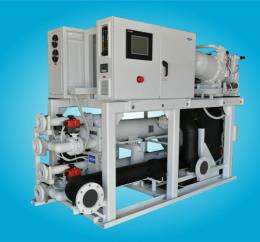OM100P2VGEK 100 Ton Screw Compressor Chiller by Aqua-Air